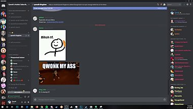 Qwonk (famous VRChat player) listens to Discord loli traps get kinky