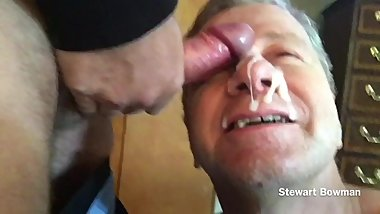 Stewart Bowman taking a HUGE Cum Facial