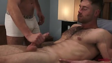 straight handsome handjob by gay