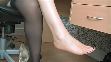 GW - Melissa Peels Her Office Stockings