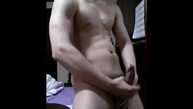 Chinese guy with thick uncut veiny cock