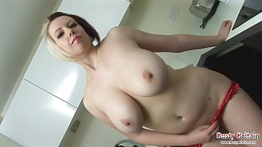 Lily Pink Gets Naked And Oils Huge Boobs