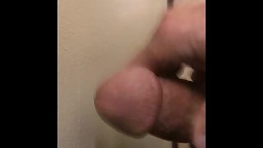 Quick cum in the stairs! Couldn't Wait!