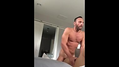 Daddy cums too fast in slim Asian bottom's hole