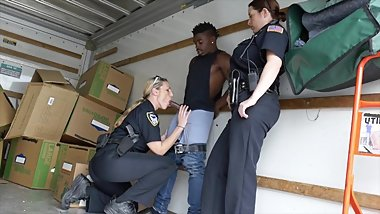 BLACK PATORL - Shoutout To The Golden Pony! MILF Cops Taking Big Black Dick