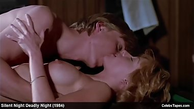 Celebrity Linnea Quigley Topless And Erotic Movie Scenes