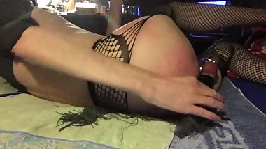 Extremely whipping after instruction of the mistress