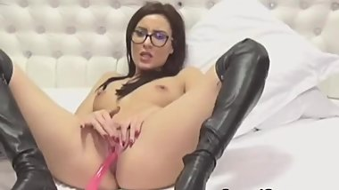 she-fucks-her-pussy-with-a-dildo-while-fingering-her-ass-HI from webcam-pri