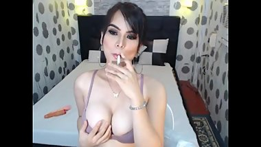 Beautiful Ladyboy Smoking