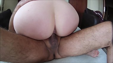 Fast byt great pleasure with my beautiful wife. Riding and massive cumshot.
