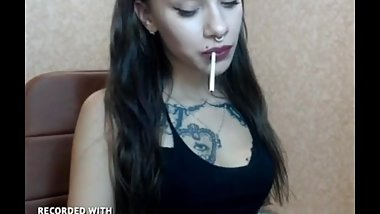 Smoking hot Shemale Alexxa - smoking