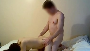 Asian lady gives a blowjob and fucks her friend