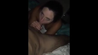 Teen gf sucks big cock