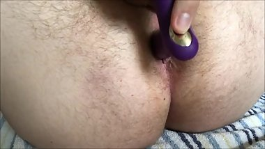 Getting better with my purple toy
