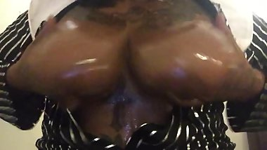 Oiled Tits Happy Halloween