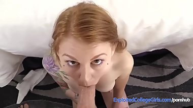 Hot Redhead Amateur Debut with Killer Facial!