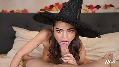 18VR.com Wicked Witch Teen Nana Garnet Gets Your Dick This Halloween