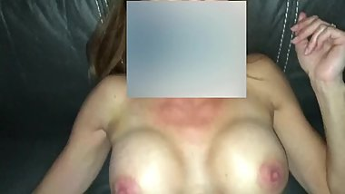 Married Mature with fake tits fucked missionary by boyfriend