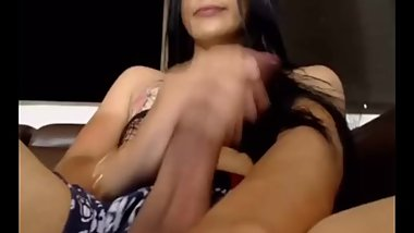 Latina Shemale with a Monster Cock Cums