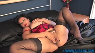 Danica Collin Red lingerie pov