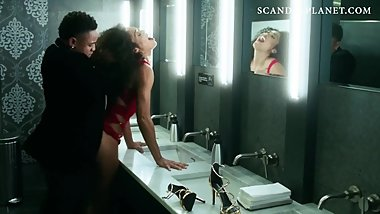 Chelsea Watts Sex in the Toilet Scene from 'Power' on ScandalPlanet.Com