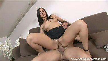 Wild Anal Ride For Sexy Brunette