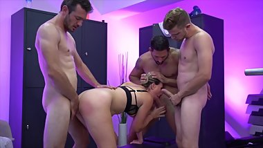 Recorded revenge gang bang of a cheated on wife - JM Fitness scene 4