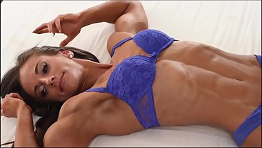 Beautiful FBB Flexing In Bed