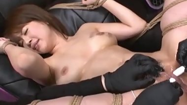 Submissive Asian Nymph Brought To Orgasmic Extremes In Japanese BDSM