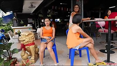 Thai Bar girls smoking