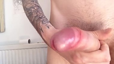 Beautiful uncut Italian cock jerking - Part 2
