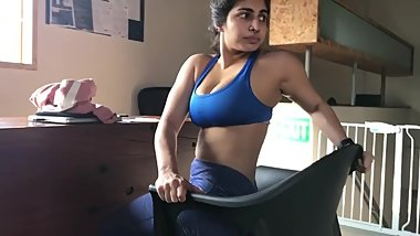 Sexiest Indian dick raising yoga goddess busty voluptous body