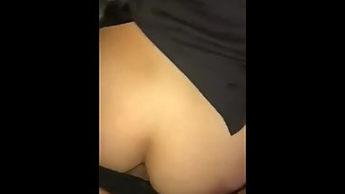 my poor sister fucked in the ass while watching tv
