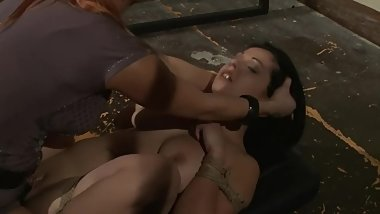 Busty Brunette Gets Hardcore Bondage Treatment