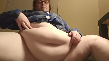 Chinese food binge and belly play BBW Feedee Amber Crystal