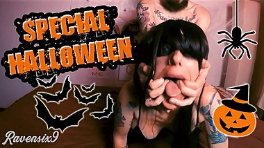 SPECIAL HALLOWEEN!! - Fucking a sexy witch - Amateur Couple Ravensix9