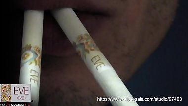 Masked teen smoking 2 Eve 120