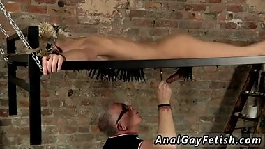 Leather twink gay sex Blindfolded gimp stud Reece has found himself