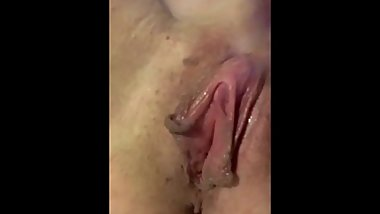 Fingering with big orgasm finish