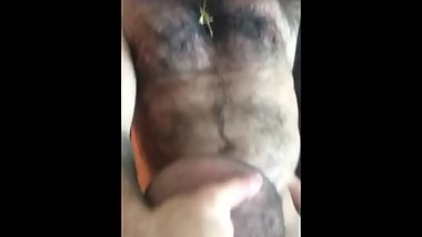 huge hairy muscle blowjob