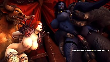 FOURSOME WARCRAFT ORGY WITH BEASTS