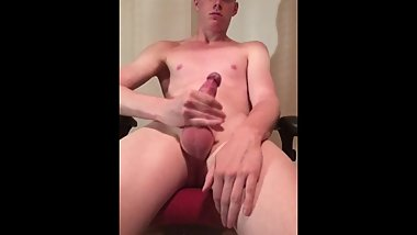 Jerking off my hard cock, MASSIVE LOAD and eating my cum afterwards